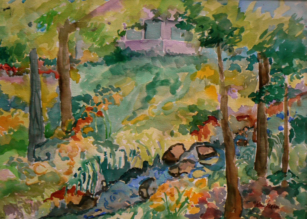 "Creekside Place <br /> 30"" x 22""  <br /> Watercolor <br /> $495 <br /> <a href=""/contact-purchase/?paintid=Creekside Place"">Purchase</a>"