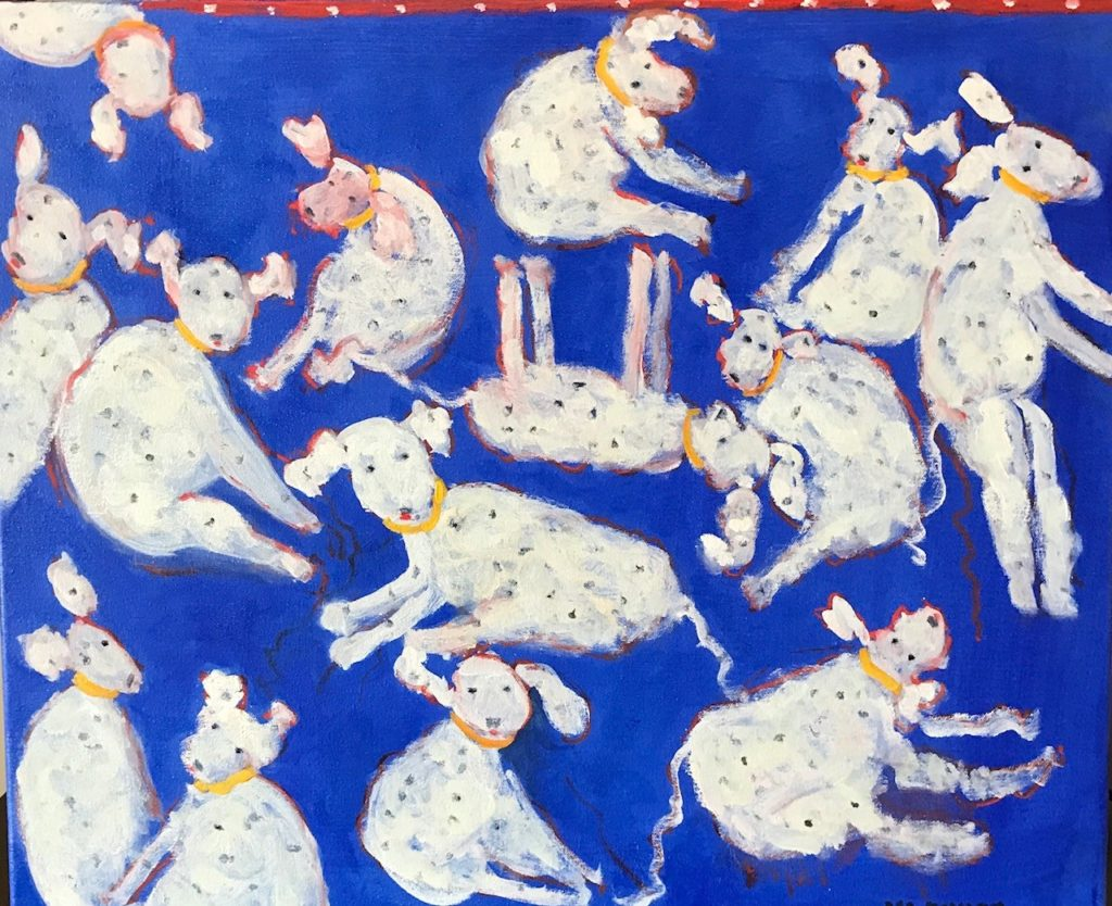 """We are family<br /> 24"""" x 30""""  <br /> Oil on Canvas, Gallery Wrapped <br /> $1100 <br /> <a"""