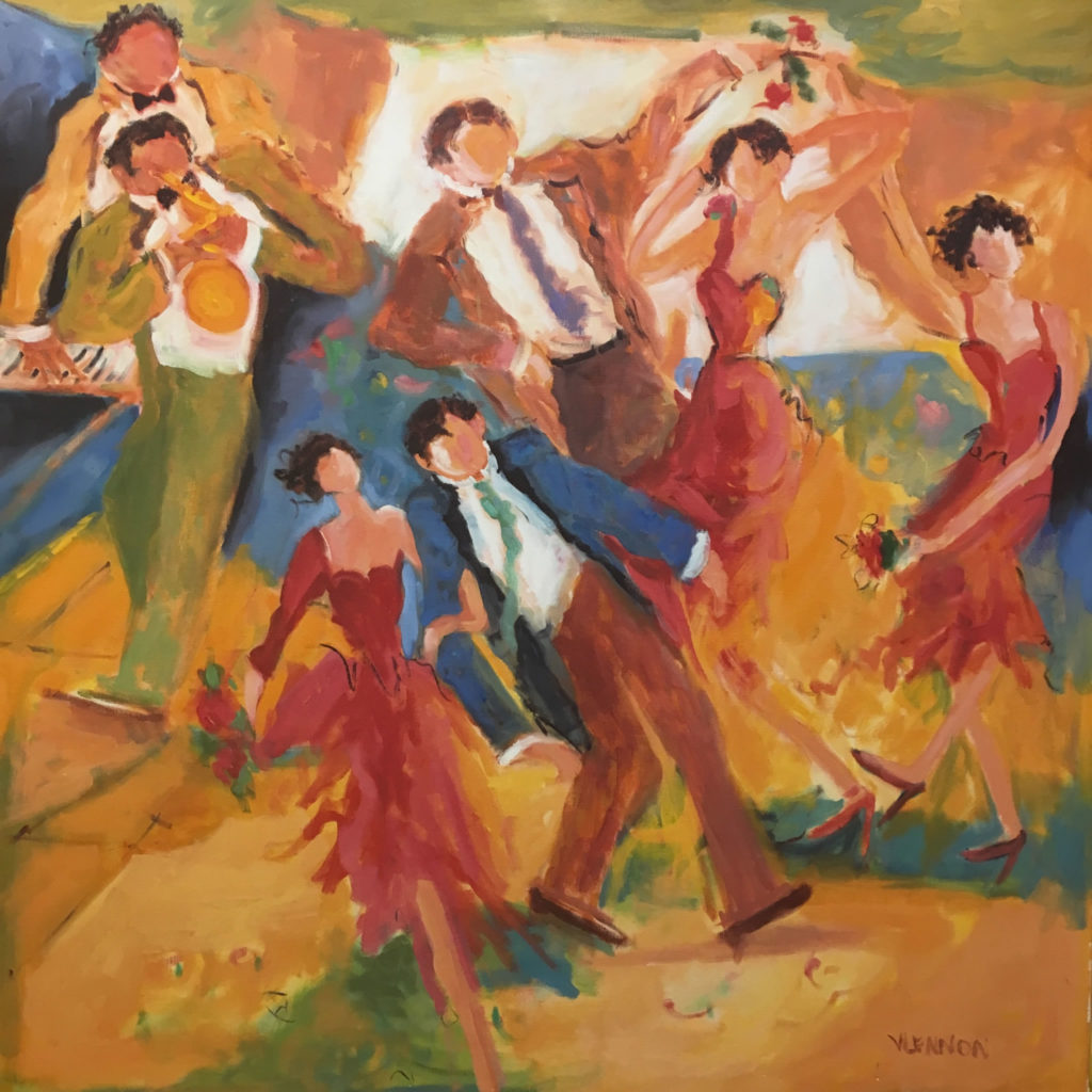 "Dancing in the Summer <br /> 36""x 36""  <br /> Giclee Print <br /> $900 <br /> <a href=""/contact-purchase/?paintid=Dancing in the Summer Giclee Print"">Purchase</a>"
